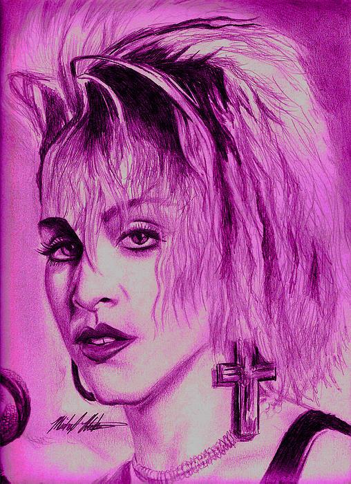 Madonna Digital Art - Madonna by Michael Mestas