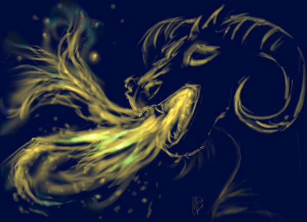 Magic Dragon Digital Art by Katerina Romanova