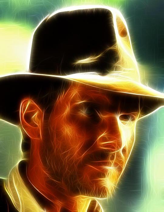 Magical Painting - Magical Indiana Jones by Paul Van Scott