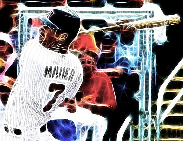 Minnesota Twins Digital Art - Magical Joe Mauer by Paul Van Scott