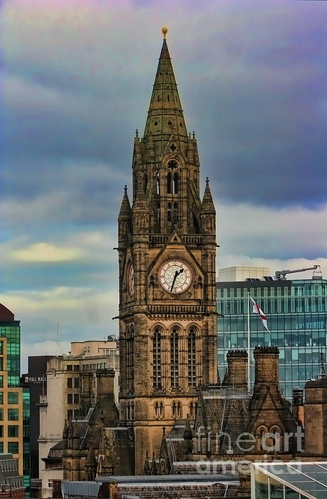 Manchester Photograph - Manchester Town Hall by Heather Applegate
