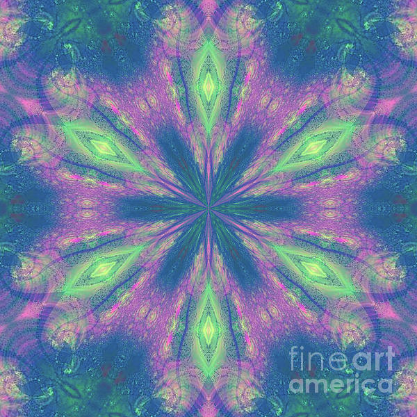 Colorful Digital Art - Mandala by Kirila Djelepova