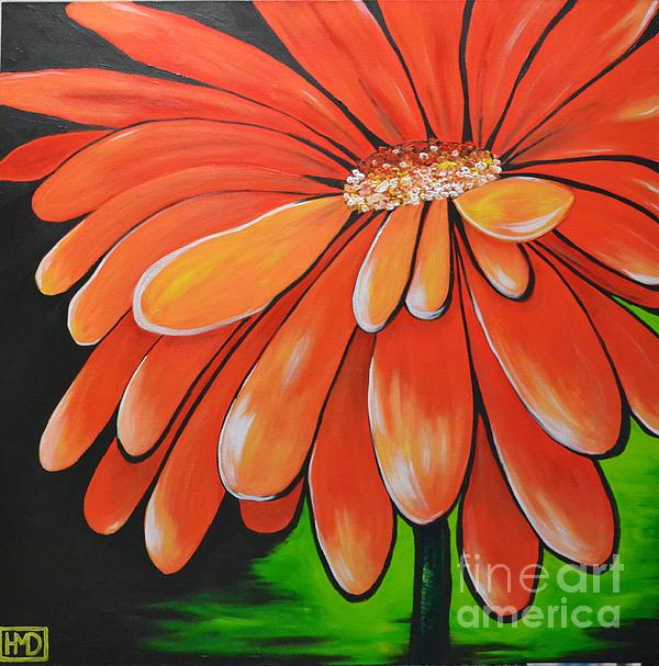 Orange Flower Painting - Mandarin Orange by Holly Donohoe