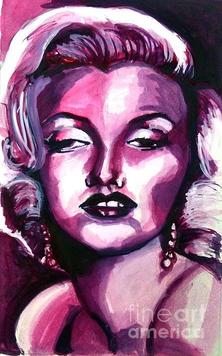 Marilyn Monroe Painting - Marilyn Monroe by Hannah Chusid
