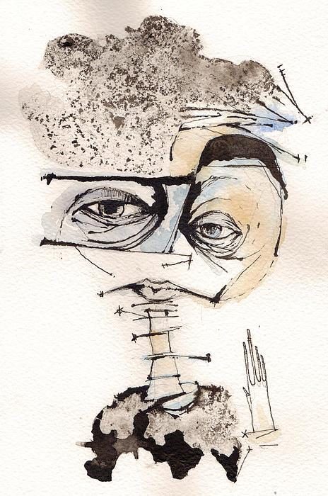 Portrait Painting - Mark M. Mellon With Glasses by Mark M  Mellon