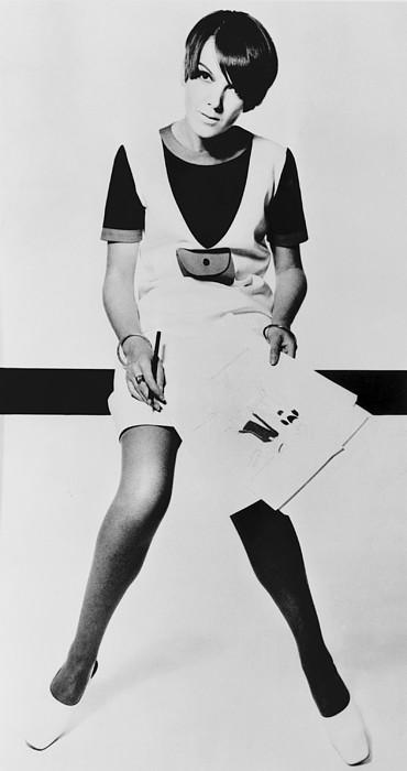 History Photograph - Mary Quant, British Mod Fashion by Everett