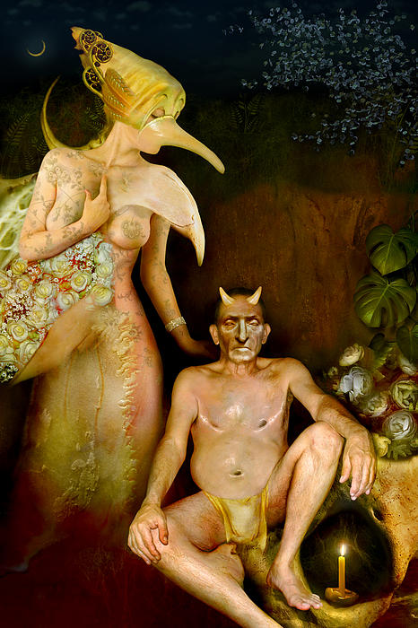 Couple Digital Art - Masquerade - Beyond The Comedy by Alexei Solha