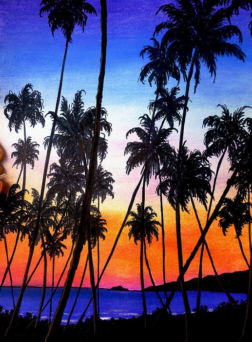 Tropical Pastel - Mayaro Red Dawn by Karin  Dawn Kelshall- Best