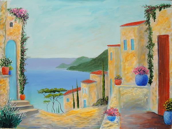 Mediterranean Paintings Painting - Mediterranean Haven by Larry Cirigliano