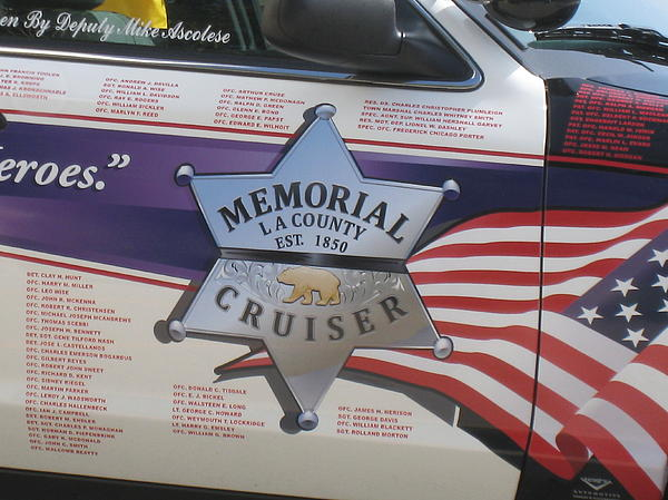 Police Photograph - Memorial Crusier L A by John King