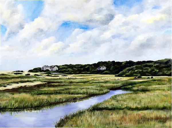 Menemsha Marsh Painting by Paul Gardner