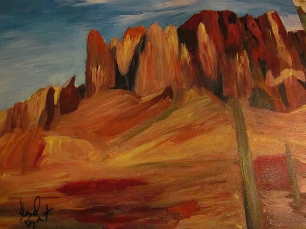 Mesa 2 Painting by David Poyant
