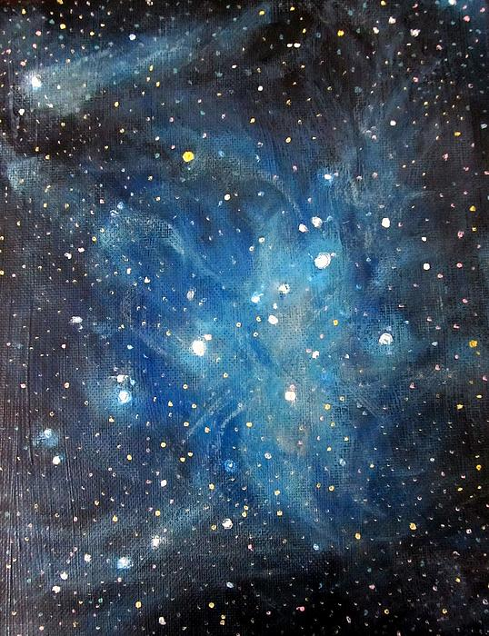 Space Painting - Messier 45 Pleiades Constellation by Alizey Khan