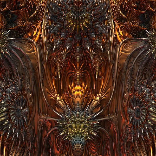 Mandelbulb Digital Art - Metal Dragons by Lyle Hatch
