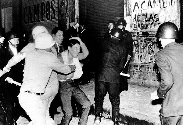 1960s Photograph - Mexico City  Riot Police Battle by Everett