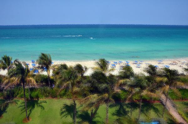 Miami Photograph - Miami Beach by Pravine Chester