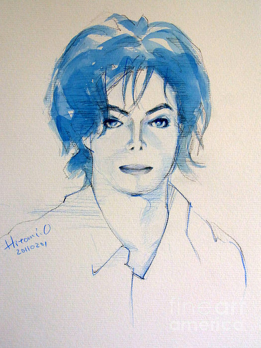 Michael Jackson Painting - Michael Jackson - Gimme Your Wings by Hitomi Osanai