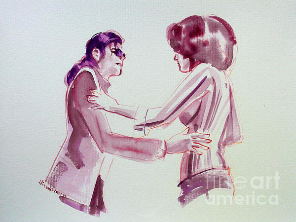 Michael Jackson Painting - Michael Jackson - Just Cant Stop Loving You by Hitomi Osanai