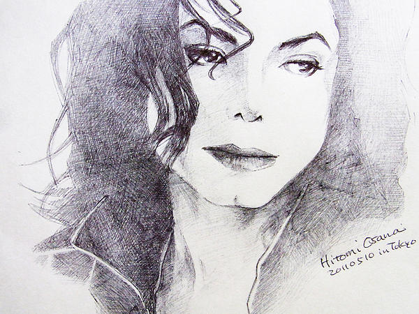 Michael Jackson Drawing - Michael Jackson - Nothing Compared To You by Hitomi Osanai