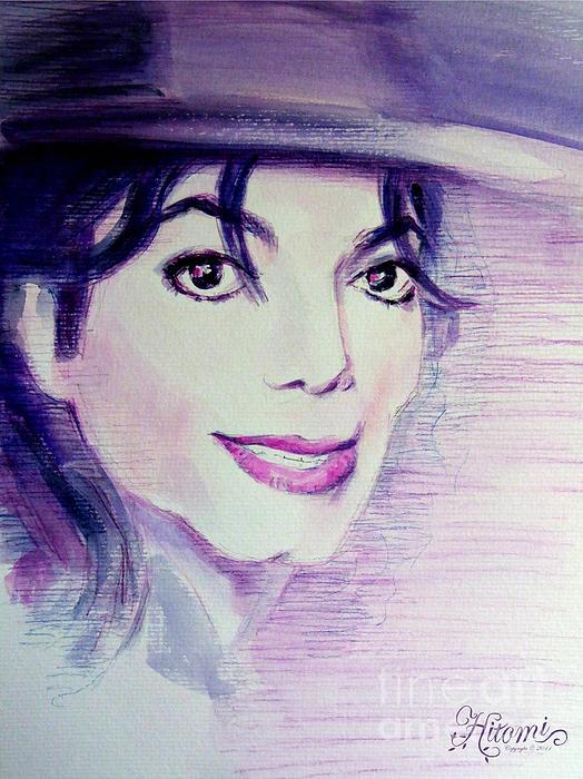Michael Jackson Painting - Michael Jackson - Purple Fedora by Hitomi Osanai