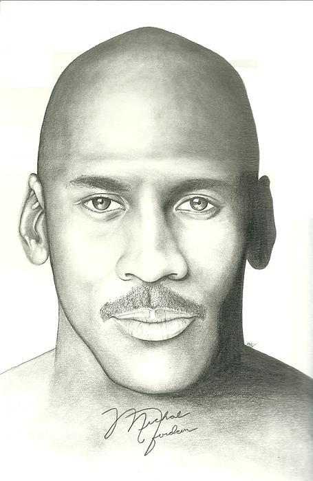 Michael Jordan Drawing - Michael Jordan by Scott Williams