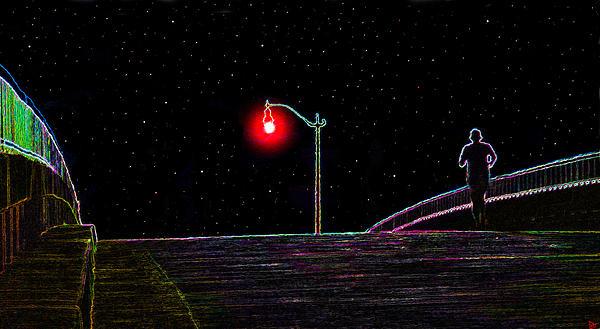Artwork Painting - Midnight Run by David Lee Thompson