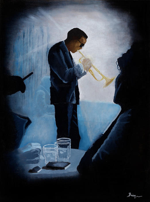 Music Painting - Mile Davis - Kind Of Blue by Brien Cole