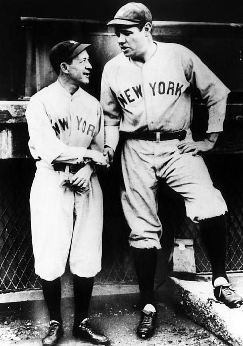 1930s Candid Photograph - Miller Huggins, And Babe Ruth, Circa by Everett