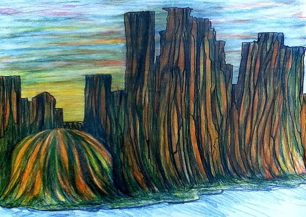 Minnesota Drawing - Minne Valley by Richard  Hubal