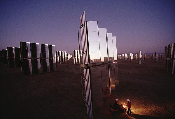 Carrizo Plain Photograph - Mirror-winged Solar Panels Convert by James A. Sugar