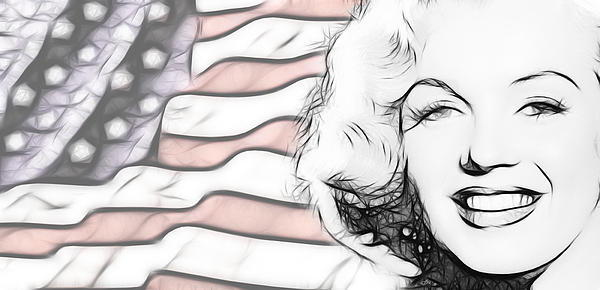 Monroe Digital Art - Miss M by Tilly Williams