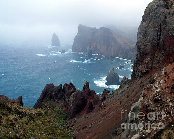 Cliff Photograph - Misty Cliffs by John Chatterley