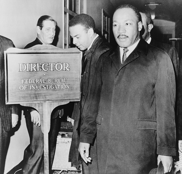 History Photograph - Mlk Enters The Fbi Building. Dr. Martin by Everett