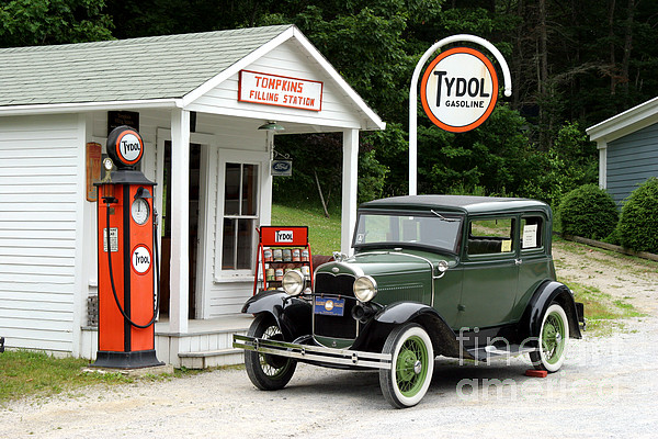 Antique Car Photograph - Model A Ford by Ted Kinsman
