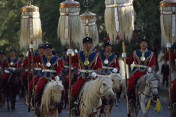 Outdoors Photograph - Mongol Armed Forces by James L. Stanfield