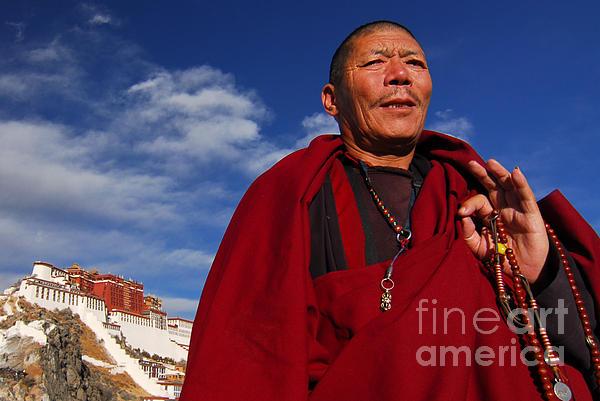 Tibet Photograph - Monk by Marko Moudrak