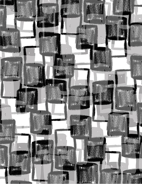 Louisa Photograph - Monochrome Squares by Louisa Knight