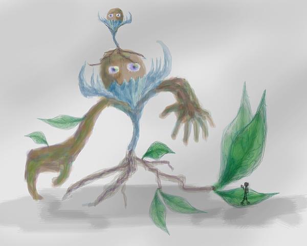 Monster Painting - Monster Tree by Sebopo Art