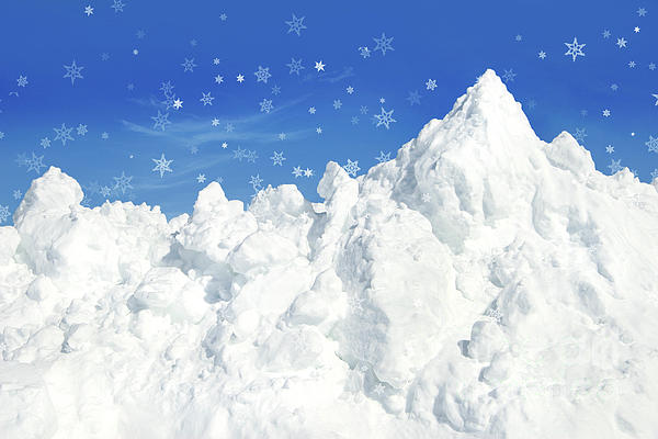 Cold Photograph - Mountain Of Snow by Sandra Cunningham