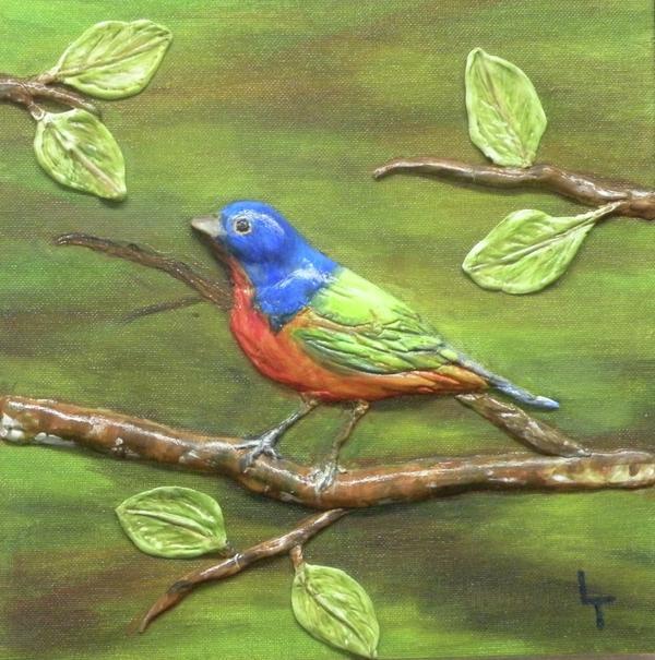 Birds Relief - Mr. Bundting by Lorrie T Dunks