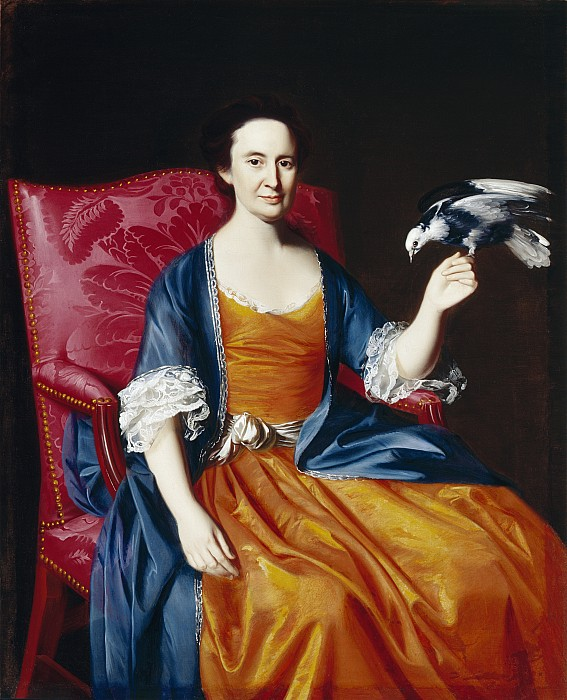 Mrs Painting - Mrs. Benjamin Hallowell by John Singleton Copley