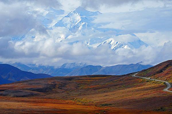 Denali National Park Photograph - Mt. Mckinley by Alan Lenk