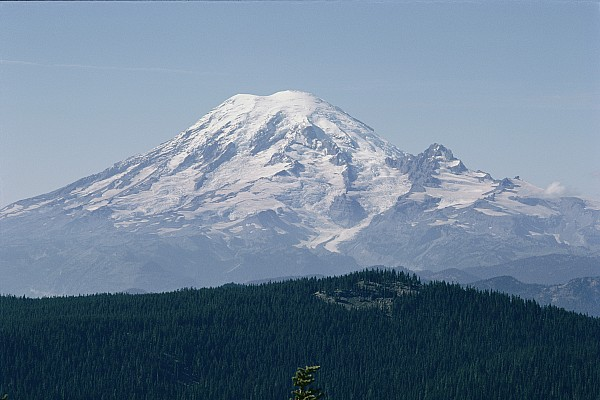 Mount Rainier Photograph - Mt. Rainier Seen From The Yakima Valley by Sisse Brimberg
