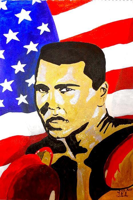 Muhammad Ali Painting - Muhammad Ali by Estelle BRETON-MAYA