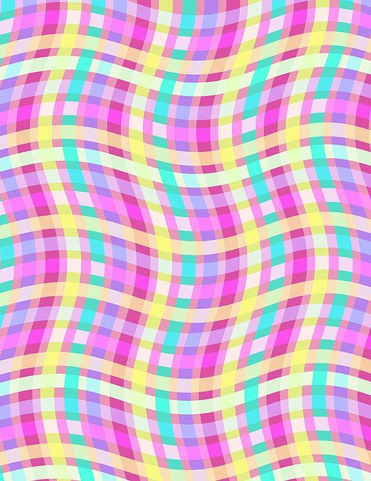 Louisa Digital Art - Multi Check by Louisa Knight