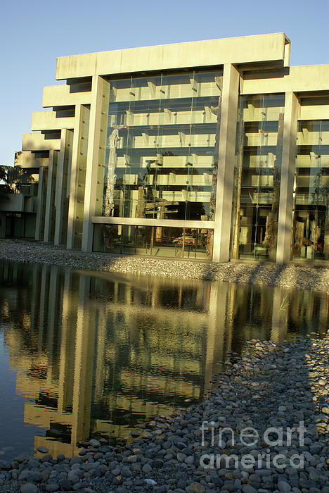 Canada Photograph - Museum Of Anthropology Reflection Vancouver Canada by John  Mitchell