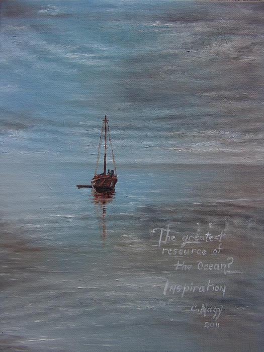Ocean Painting - My Inspiration by Celeste Nagy