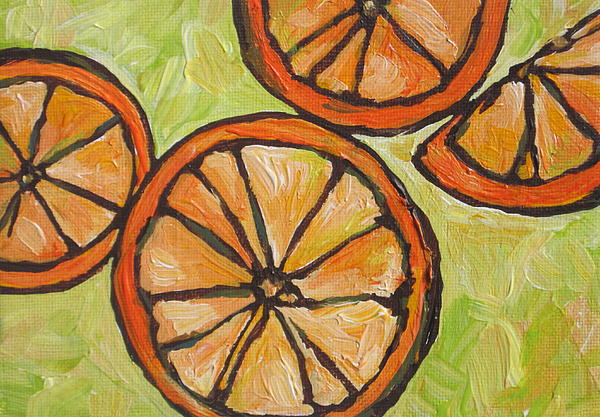 Fruit Painting - My Vitamin C by Sandy Tracey