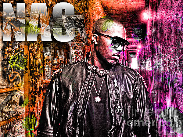 Music Digital Art - Nas by The DigArtisT