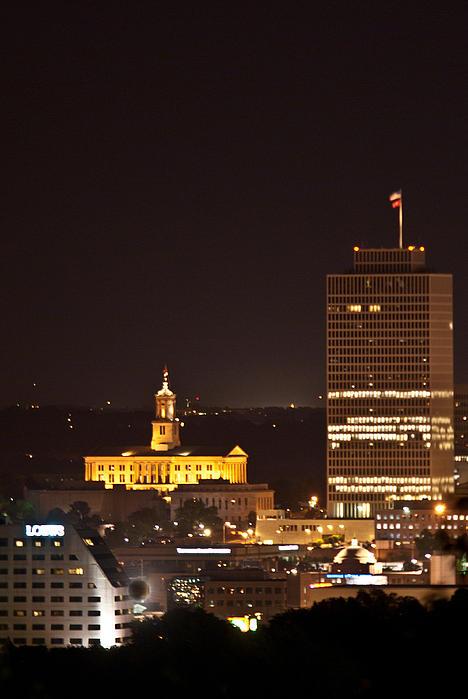 Nashville Photograph - Nashville Cityscape 5 by Douglas Barnett
